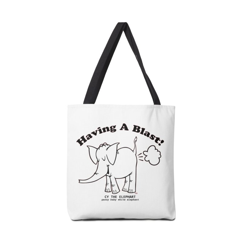 Having A Blast with Cy The Elephart Accessories Bag by Cy The Elephart's phArtist Shop