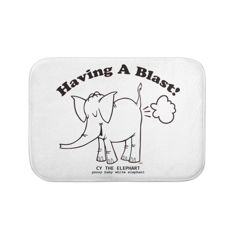 Having A Blast with Cy The Elephart Home Bath Mat by Cy The Elephart's phArtist Shop