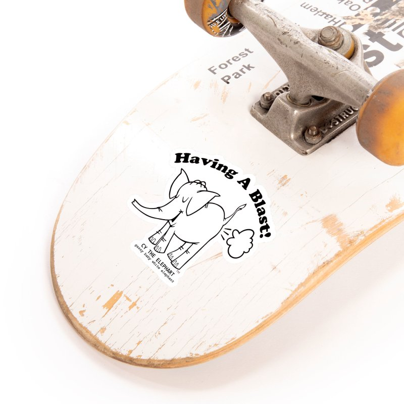 Having A Blast with Cy The Elephart Accessories Sticker by Cy The Elephart's phArtist Shop
