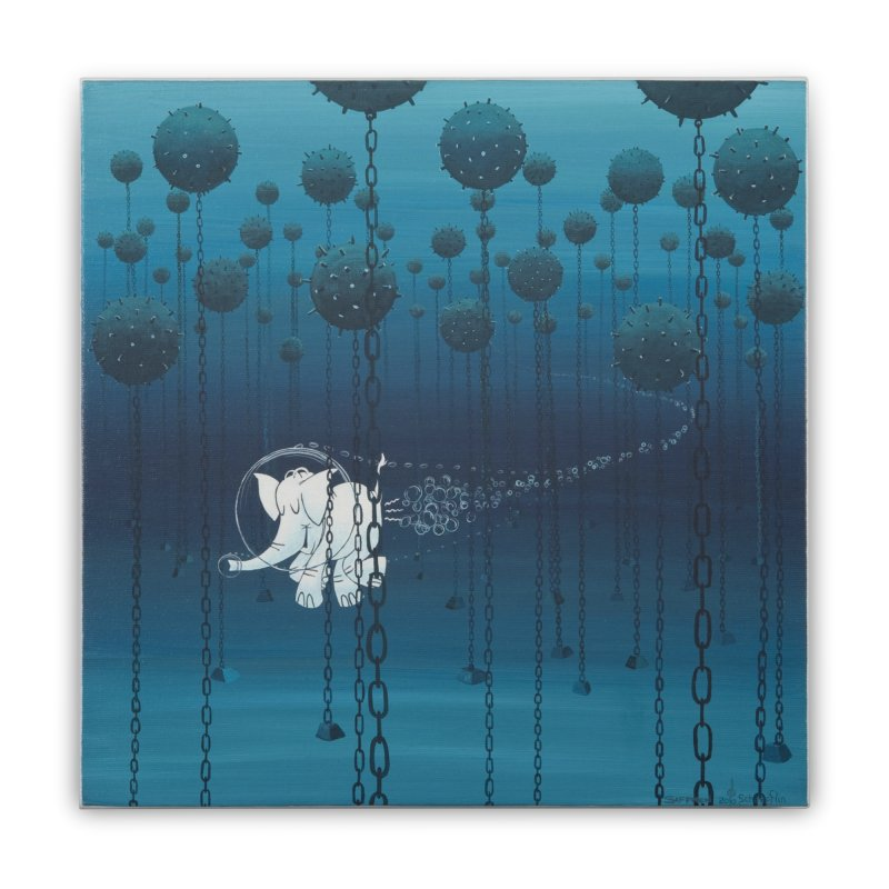 Cy-Lent Butt Deadly Home Stretched Canvas by Cy The Elephart's phArtist Shop