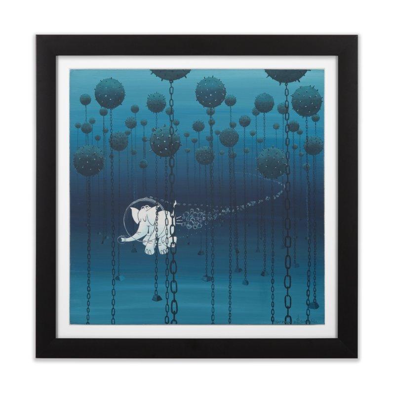 Cy-Lent Butt Deadly Home Framed Fine Art Print by Cy The Elephart's phArtist Shop
