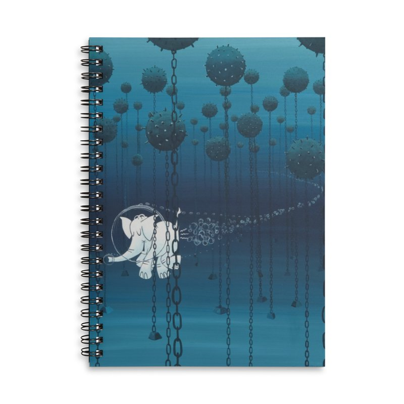 Cy-Lent Butt Deadly Accessories Lined Spiral Notebook by Cy The Elephart's phArtist Shop
