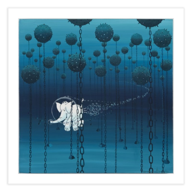 Cy-Lent Butt Deadly Home Fine Art Print by Cy The Elephart's phArtist Shop