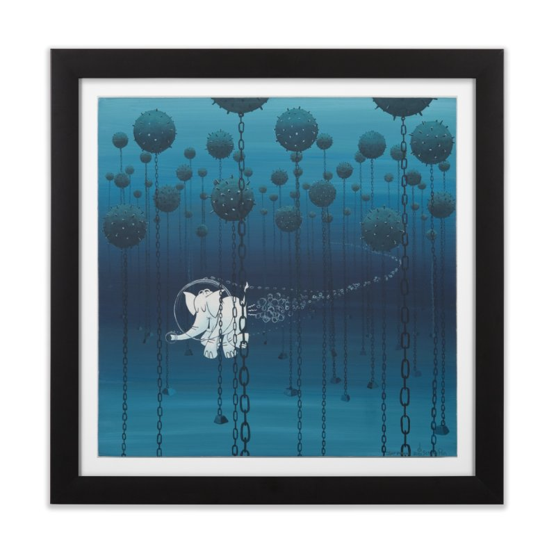 Cy-Lent Butt Deadly Home Framed Fine Art Print by Cy The Elephart's phArtist Shop