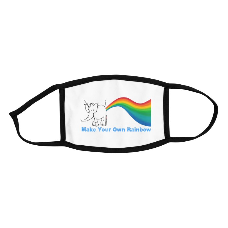 Make Your Own Rainbow - Cy The Elephart Accessories Face Mask by Cy The Elephart's phArtist Shop