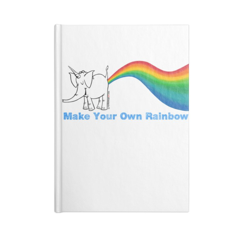 Make Your Own Rainbow - Cy The Elephart Accessories Blank Journal Notebook by Cy The Elephart's phArtist Shop