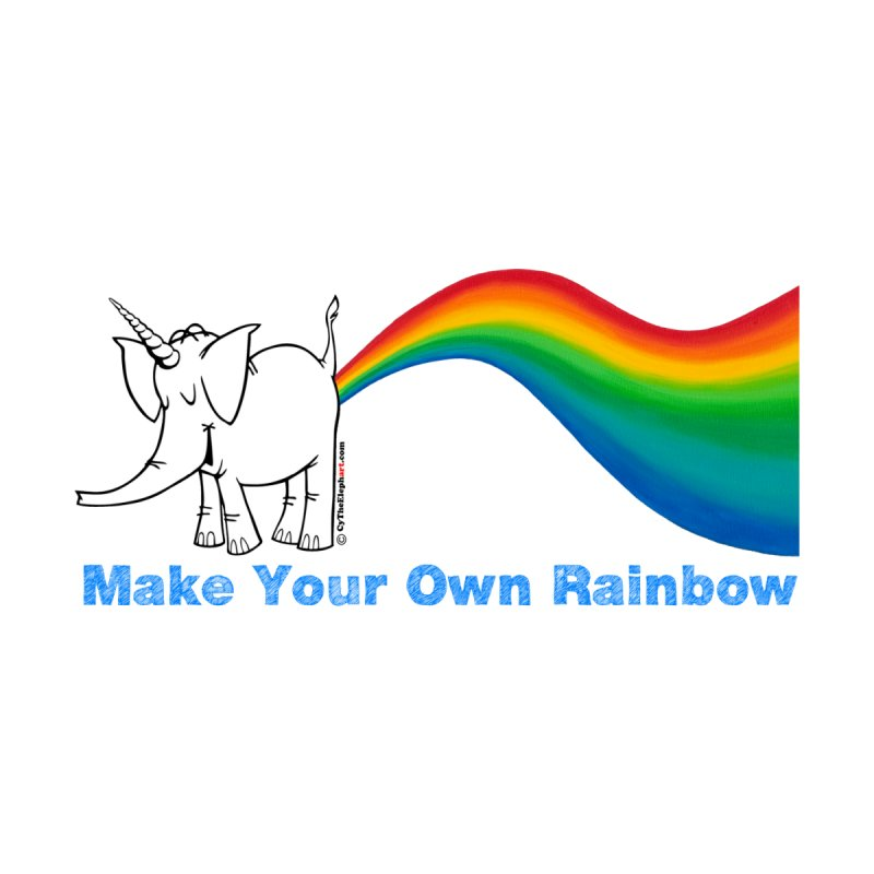 Make Your Own Rainbow - Cy The Elephart Home Fine Art Print by Cy The Elephart's phArtist Shop