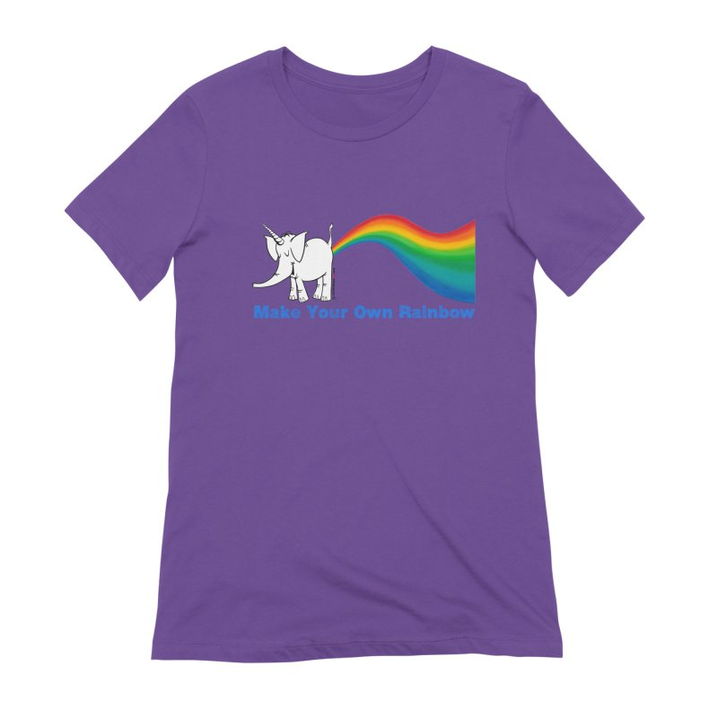 Make Your Own Rainbow - Cy The Elephart Women's Extra Soft T-Shirt by Cy The Elephart's phArtist Shop