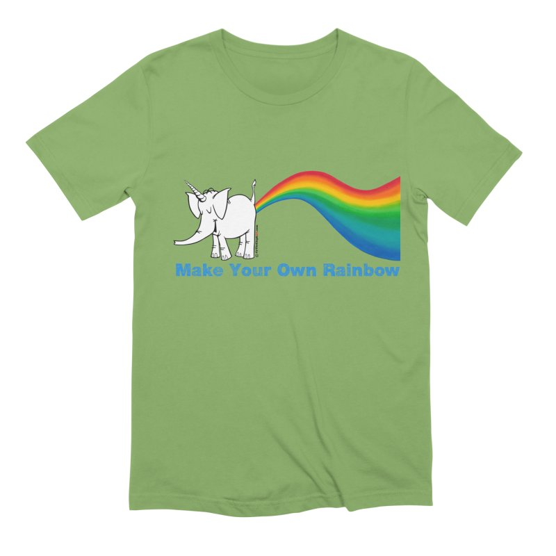 Make Your Own Rainbow - Cy The Elephart Men's Extra Soft T-Shirt by Cy The Elephart's phArtist Shop