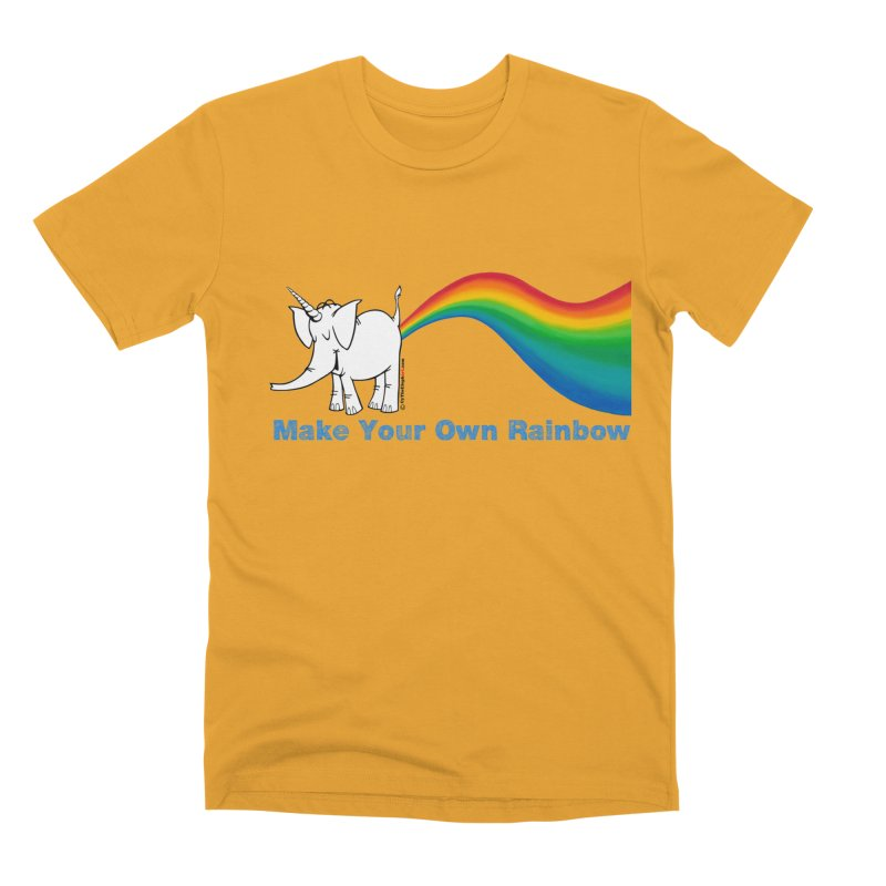 Make Your Own Rainbow - Cy The Elephart Men's Premium T-Shirt by Cy The Elephart's phArtist Shop
