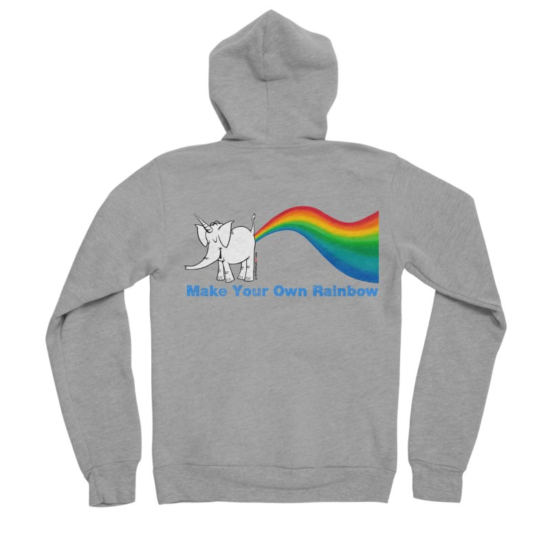 Make Your Own Rainbow - Cy The Elephart Men's Sponge Fleece Zip-Up Hoody by Cy The Elephart's phArtist Shop