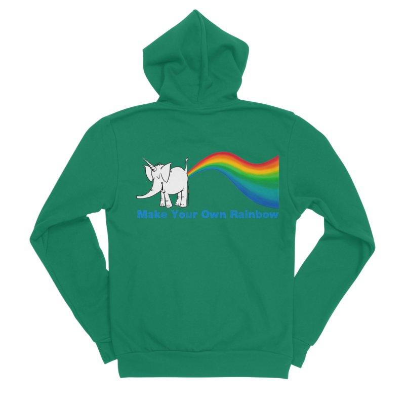 Make Your Own Rainbow - Cy The Elephart Women's Sponge Fleece Zip-Up Hoody by Cy The Elephart's phArtist Shop