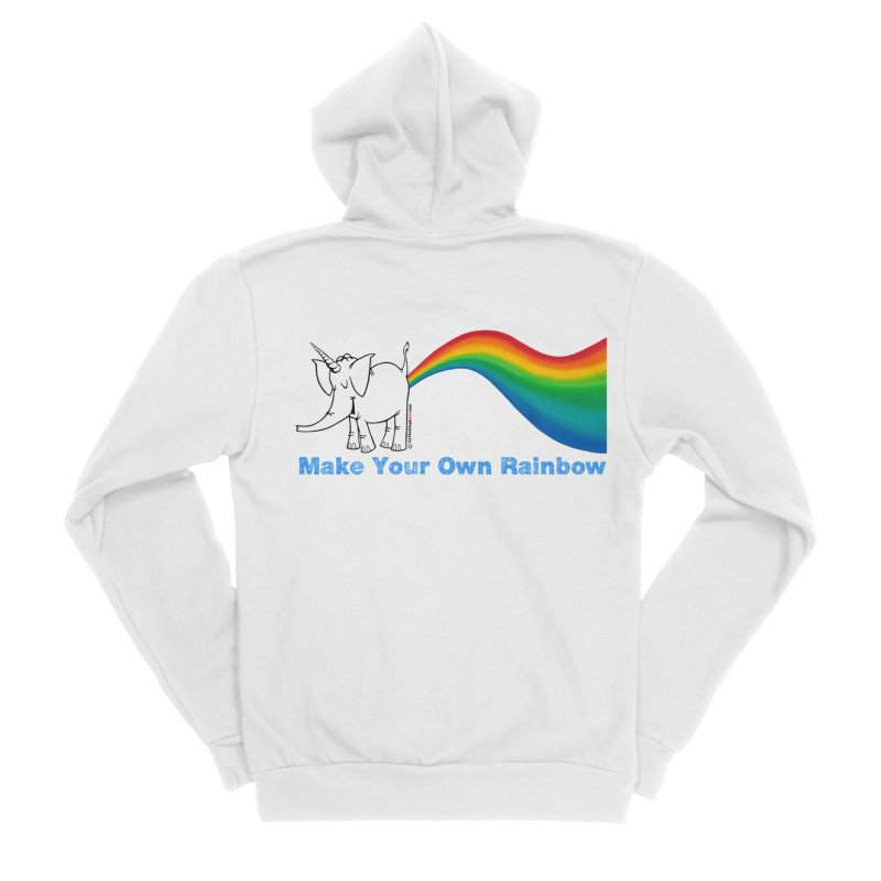 Make Your Own Rainbow - Cy The Elephart Women's Zip-Up Hoody by Cy The Elephart's phArtist Shop