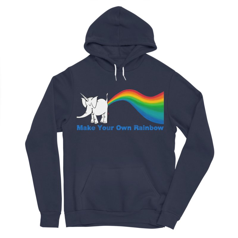Make Your Own Rainbow - Cy The Elephart Men's Sponge Fleece Pullover Hoody by Cy The Elephart's phArtist Shop