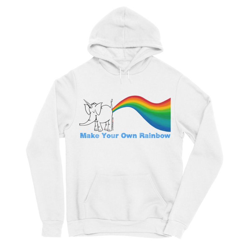 Make Your Own Rainbow - Cy The Elephart Men's Sponge Fleece Pullover Hoody by Cy The Elephart's phArtist Shop
