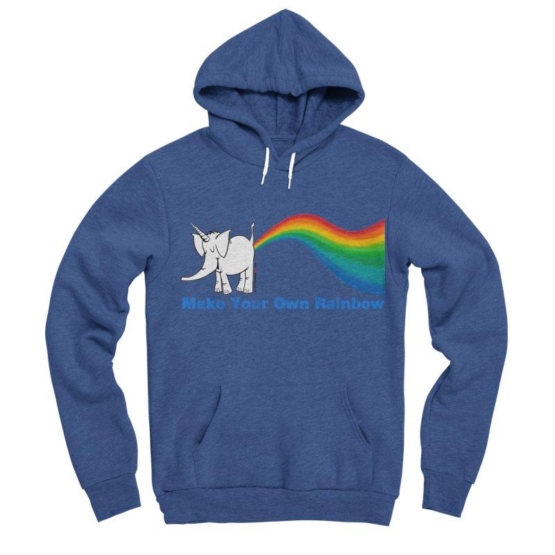 Make Your Own Rainbow - Cy The Elephart Women's Sponge Fleece Pullover Hoody by Cy The Elephart's phArtist Shop