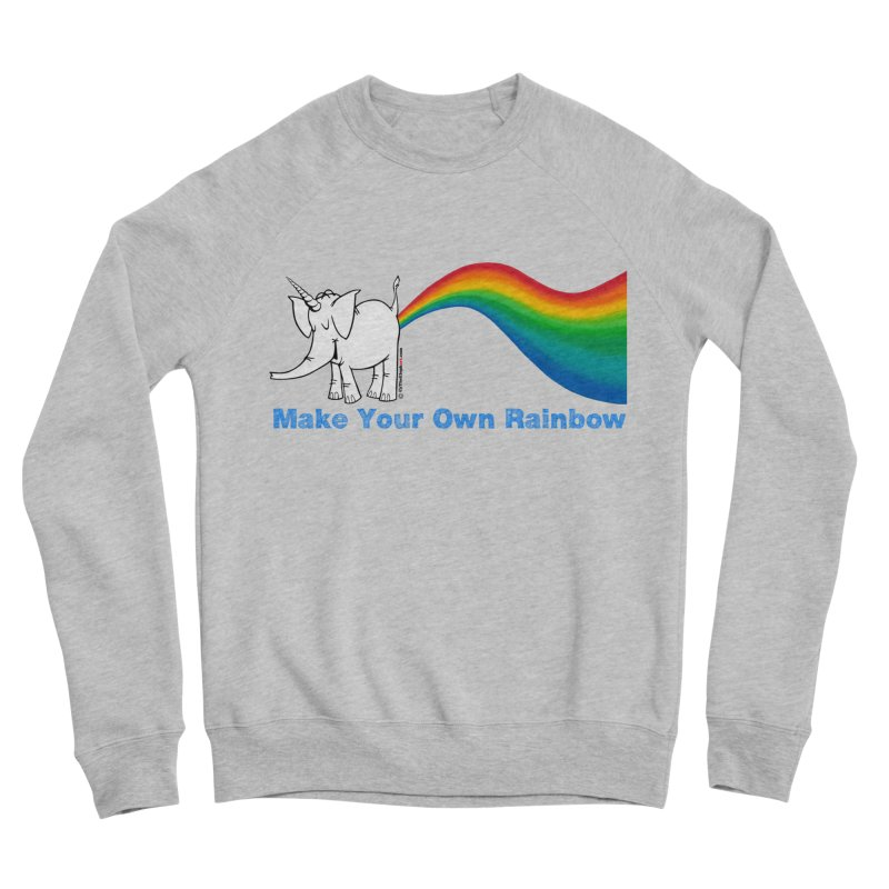Make Your Own Rainbow - Cy The Elephart Men's Sponge Fleece Sweatshirt by Cy The Elephart's phArtist Shop