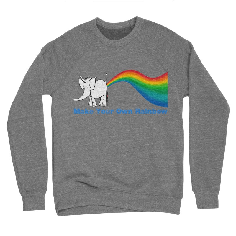 Make Your Own Rainbow - Cy The Elephart Women's Sponge Fleece Sweatshirt by Cy The Elephart's phArtist Shop