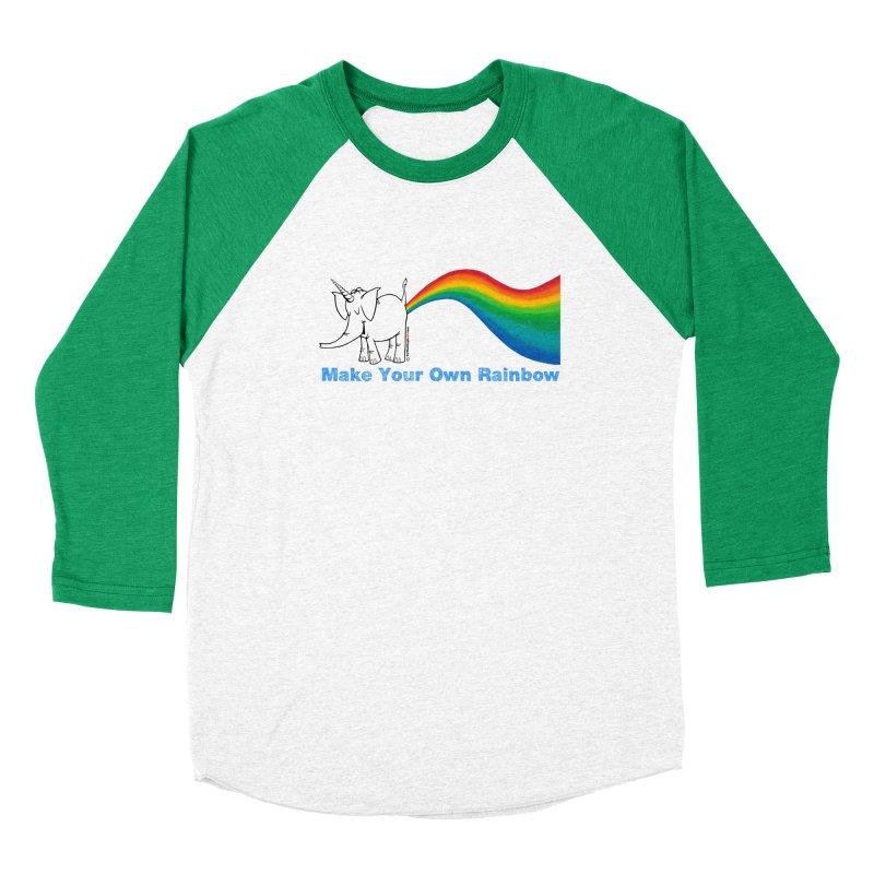 Make Your Own Rainbow - Cy The Elephart Women's Baseball Triblend Longsleeve T-Shirt by Cy The Elephart's phArtist Shop