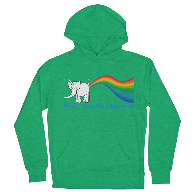 Make Your Own Rainbow - Cy The Elephart Women's Pullover Hoody by Cy The Elephart's phArtist Shop