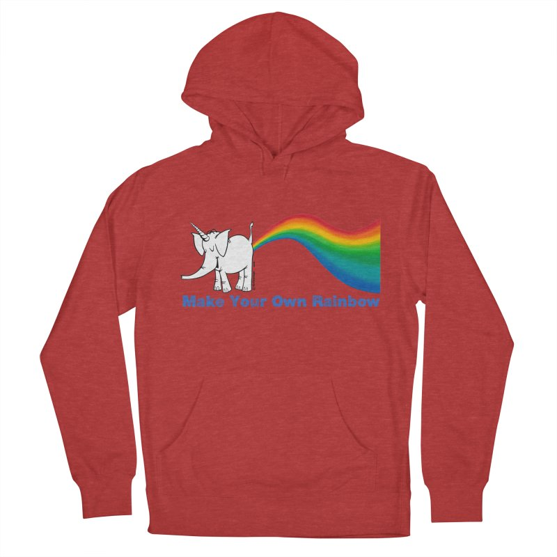 Make Your Own Rainbow - Cy The Elephart Women's French Terry Pullover Hoody by Cy The Elephart's phArtist Shop