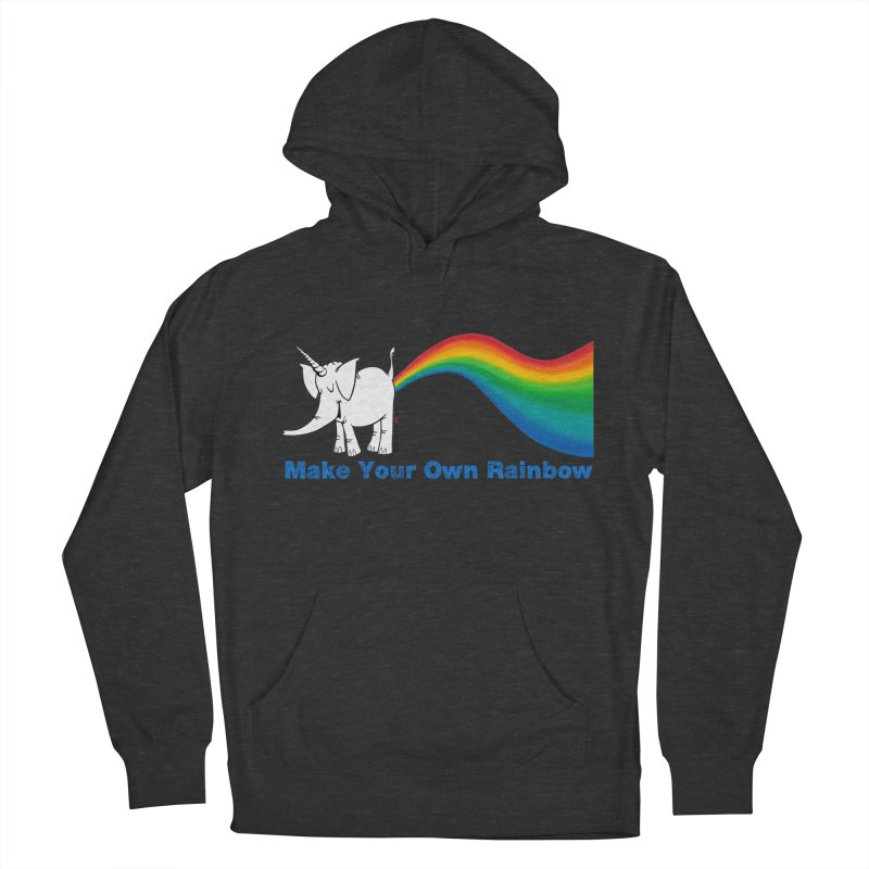 Make Your Own Rainbow - Cy The Elephart Men's French Terry Pullover Hoody by Cy The Elephart's phArtist Shop