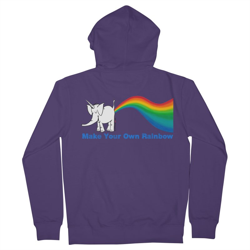 Make Your Own Rainbow - Cy The Elephart Women's French Terry Zip-Up Hoody by Cy The Elephart's phArtist Shop