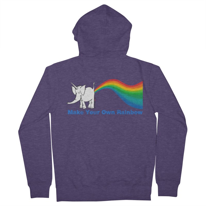 Make Your Own Rainbow - Cy The Elephart Men's French Terry Zip-Up Hoody by Cy The Elephart's phArtist Shop