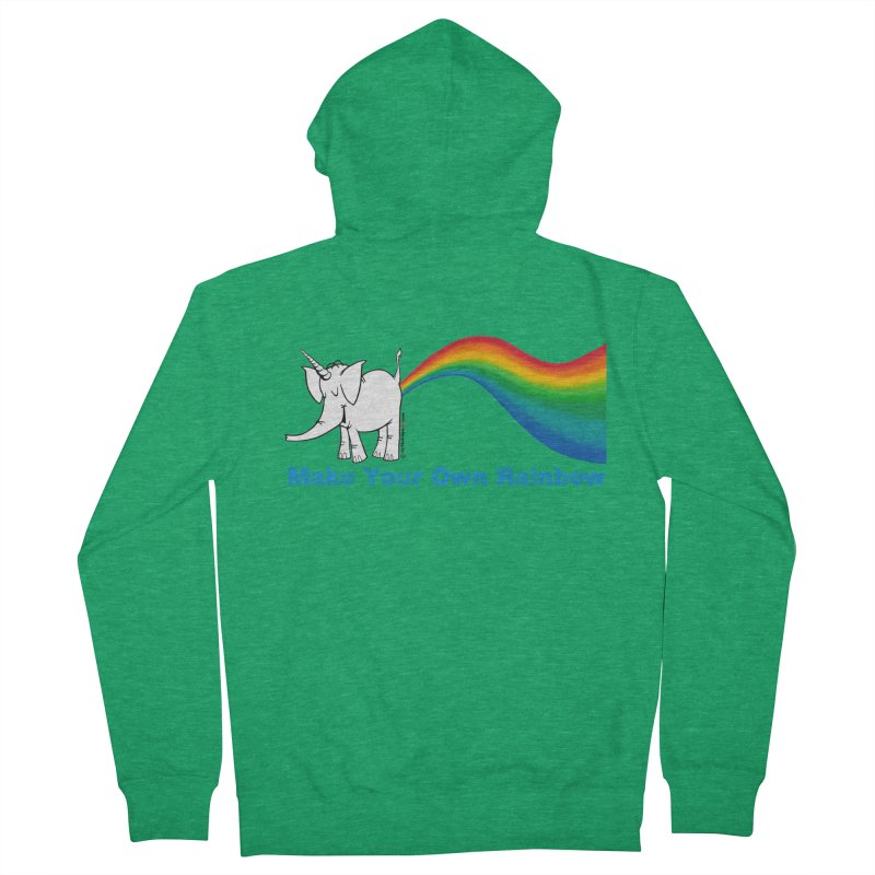 Make Your Own Rainbow - Cy The Elephart Men's Zip-Up Hoody by Cy The Elephart's phArtist Shop