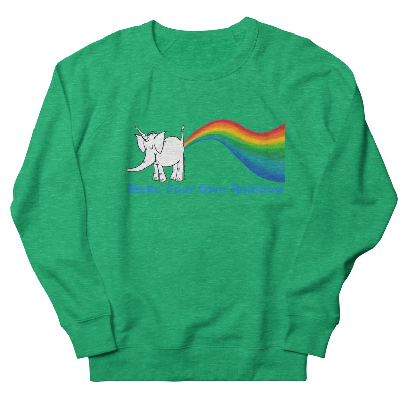 Make Your Own Rainbow - Cy The Elephart Women's Sweatshirt by Cy The Elephart's phArtist Shop