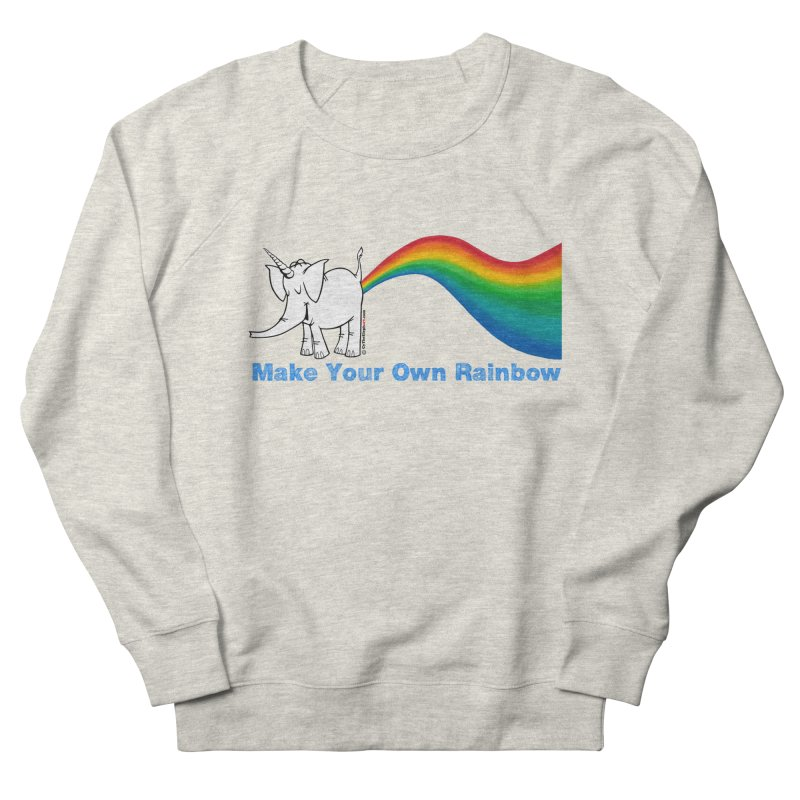 Make Your Own Rainbow - Cy The Elephart Women's French Terry Sweatshirt by Cy The Elephart's phArtist Shop