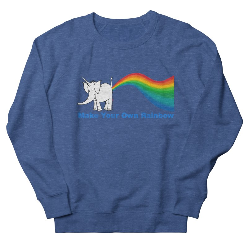 Make Your Own Rainbow - Cy The Elephart Men's French Terry Sweatshirt by Cy The Elephart's phArtist Shop
