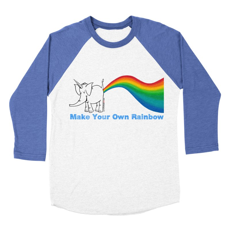 Make Your Own Rainbow - Cy The Elephart Men's Baseball Triblend Longsleeve T-Shirt by Cy The Elephart's phArtist Shop