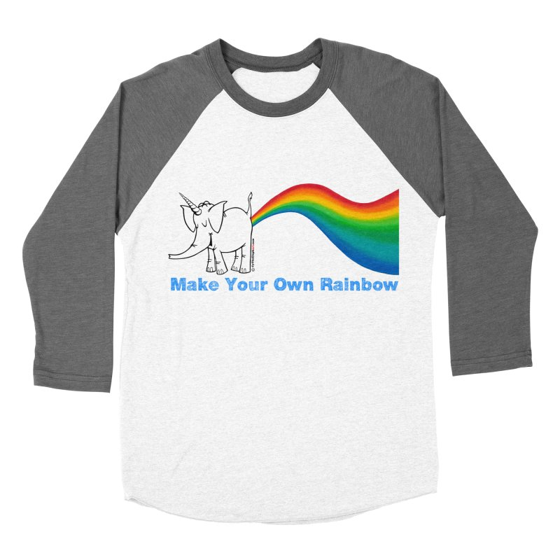 Make Your Own Rainbow - Cy The Elephart Men's Baseball Triblend Longsleeve T-Shirt by Cy The Elephart's phArtist Shop