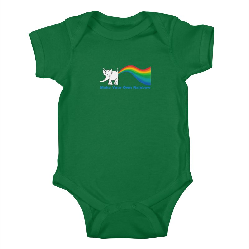 Make Your Own Rainbow - Cy The Elephart Kids Baby Bodysuit by Cy The Elephart's phArtist Shop