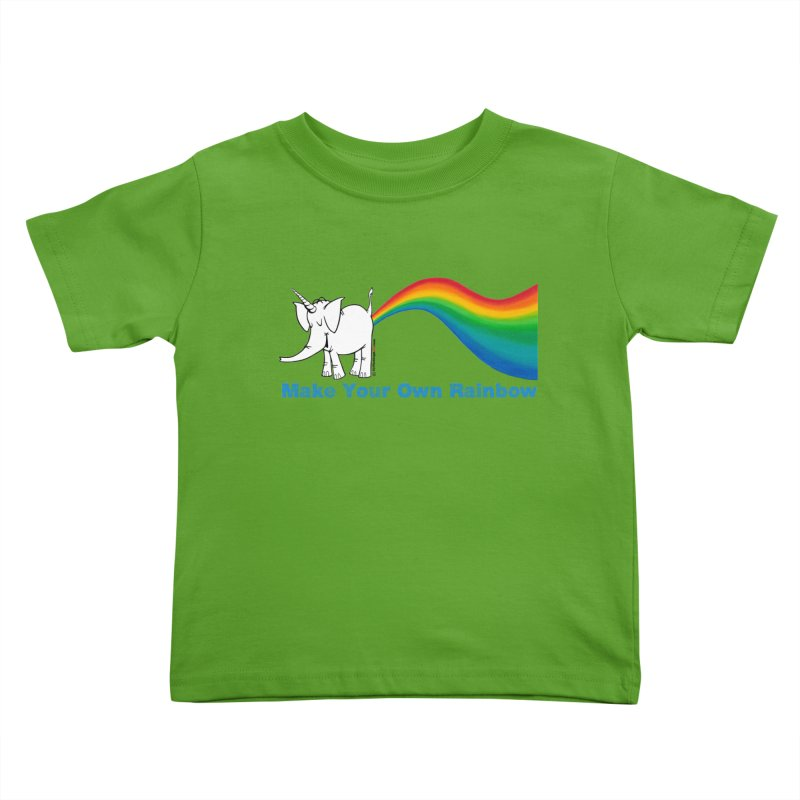 Make Your Own Rainbow - Cy The Elephart Kids Toddler T-Shirt by Cy The Elephart's phArtist Shop