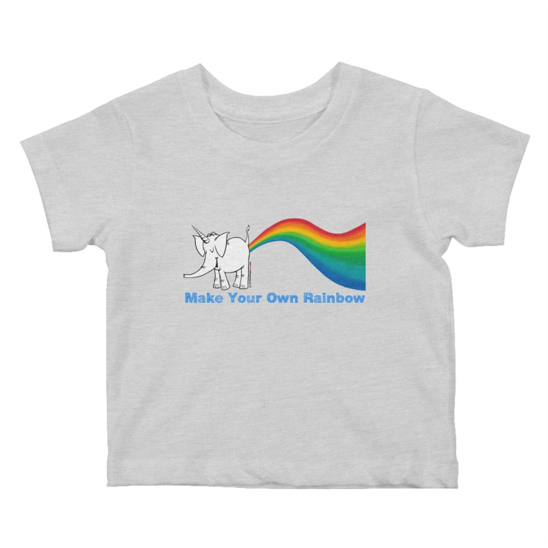 Make Your Own Rainbow - Cy The Elephart Kids Baby T-Shirt by Cy The Elephart's phArtist Shop