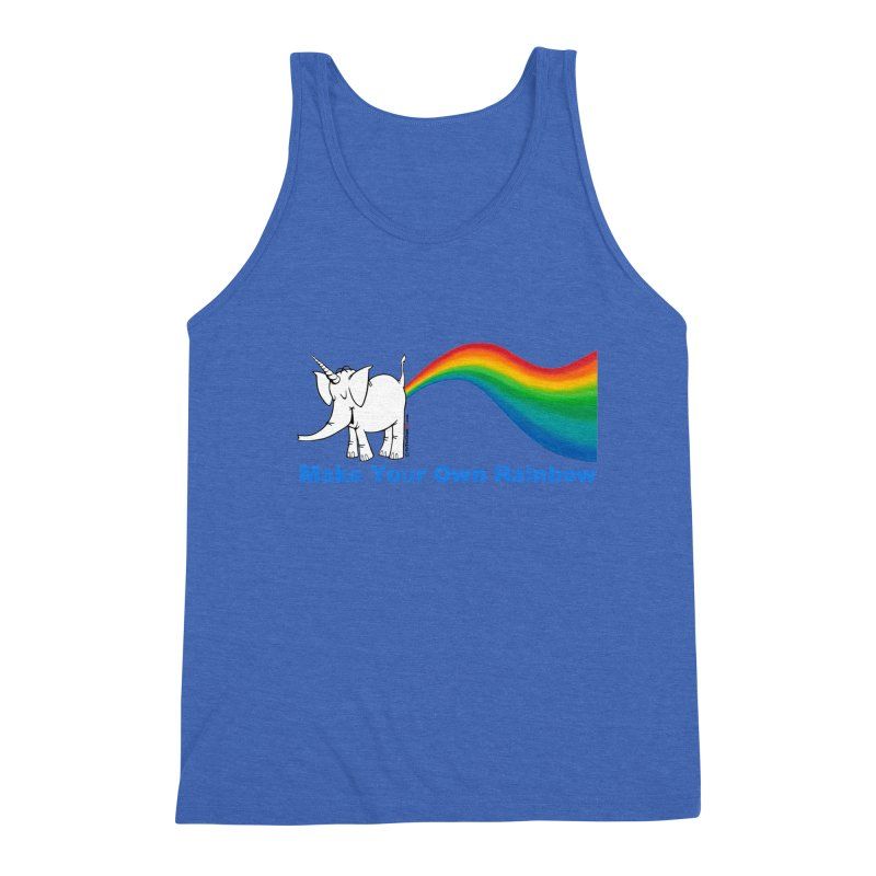 Make Your Own Rainbow - Cy The Elephart Men's Triblend Tank by Cy The Elephart's phArtist Shop