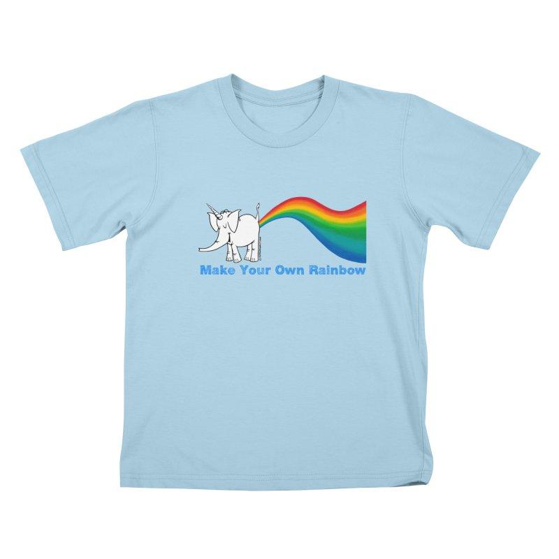 Make Your Own Rainbow - Cy The Elephart Kids T-Shirt by Cy The Elephart's phArtist Shop