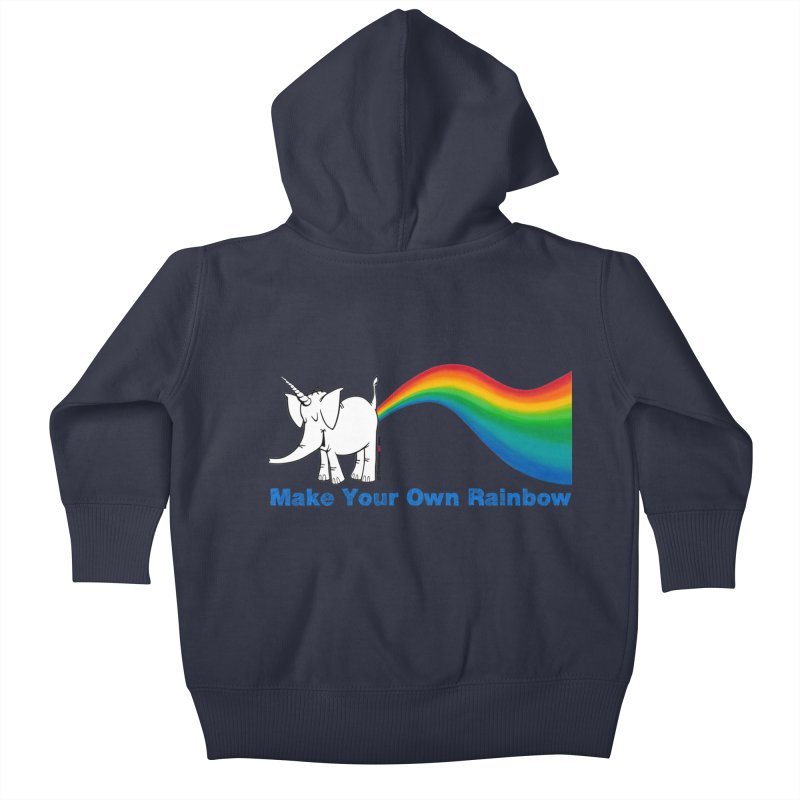 Make Your Own Rainbow - Cy The Elephart Kids Baby Zip-Up Hoody by Cy The Elephart's phArtist Shop