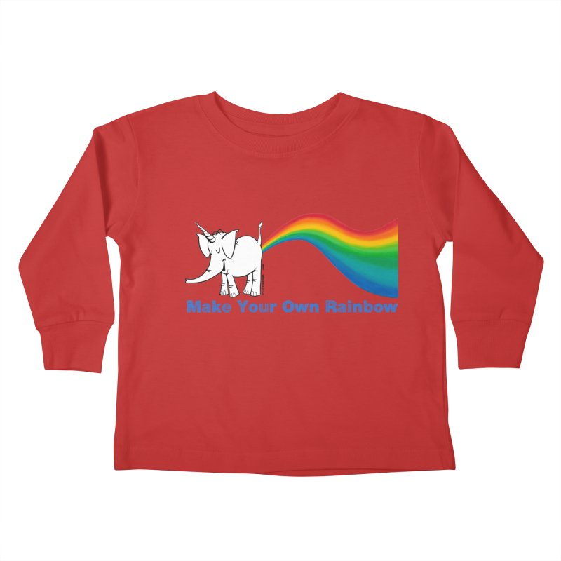 Make Your Own Rainbow - Cy The Elephart Kids Toddler Longsleeve T-Shirt by Cy The Elephart's phArtist Shop