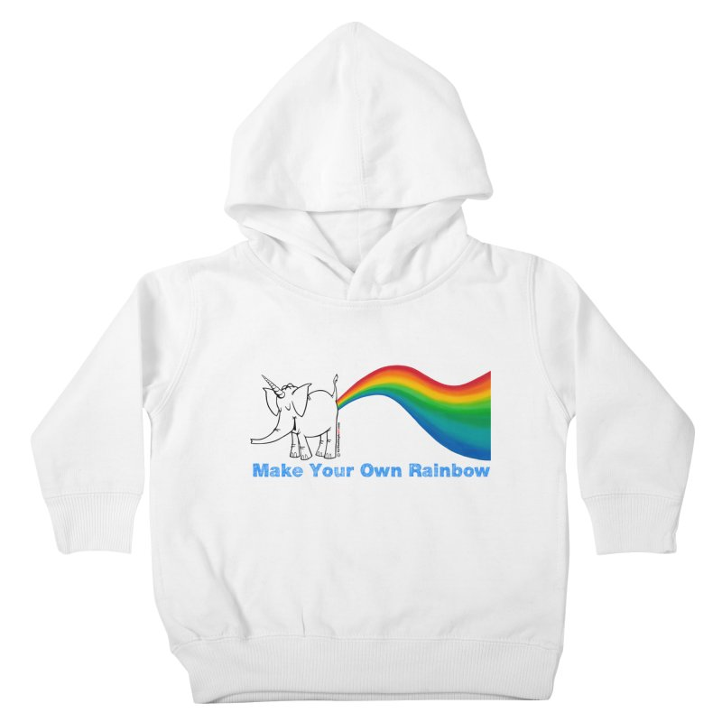 Make Your Own Rainbow - Cy The Elephart Kids Toddler Pullover Hoody by Cy The Elephart's phArtist Shop