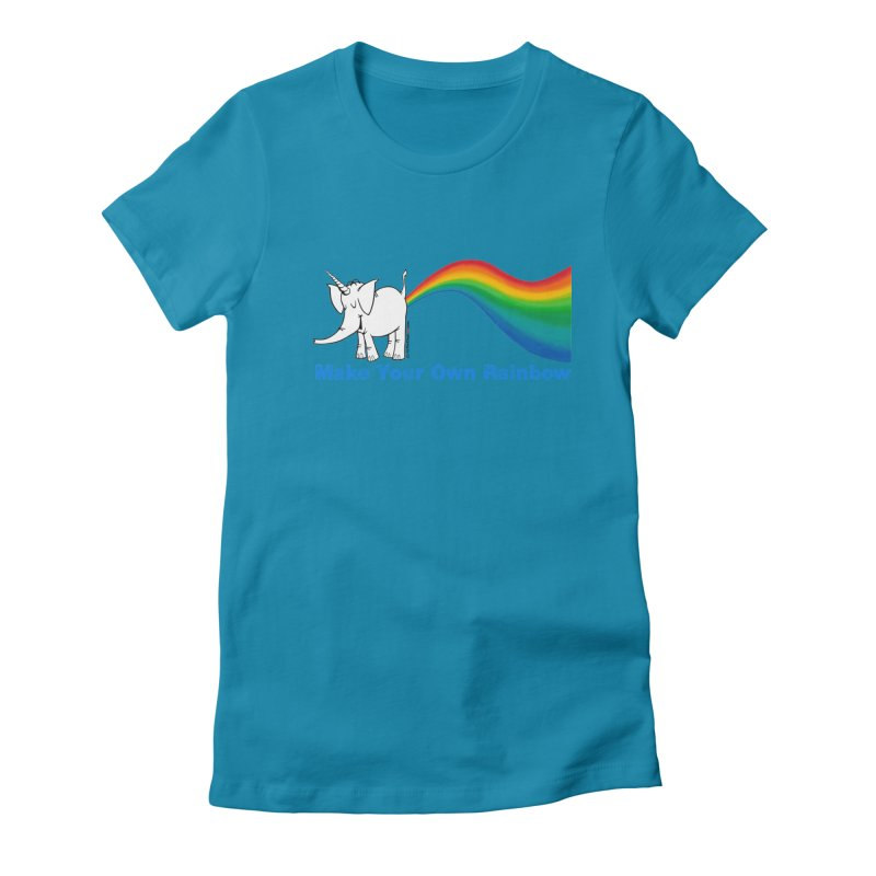 Make Your Own Rainbow - Cy The Elephart Women's T-Shirt by Cy The Elephart's phArtist Shop