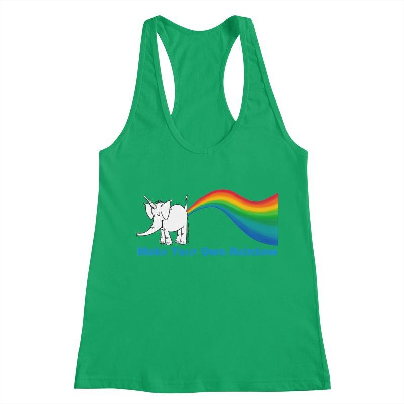 Make Your Own Rainbow - Cy The Elephart Women's Racerback Tank by Cy The Elephart's phArtist Shop