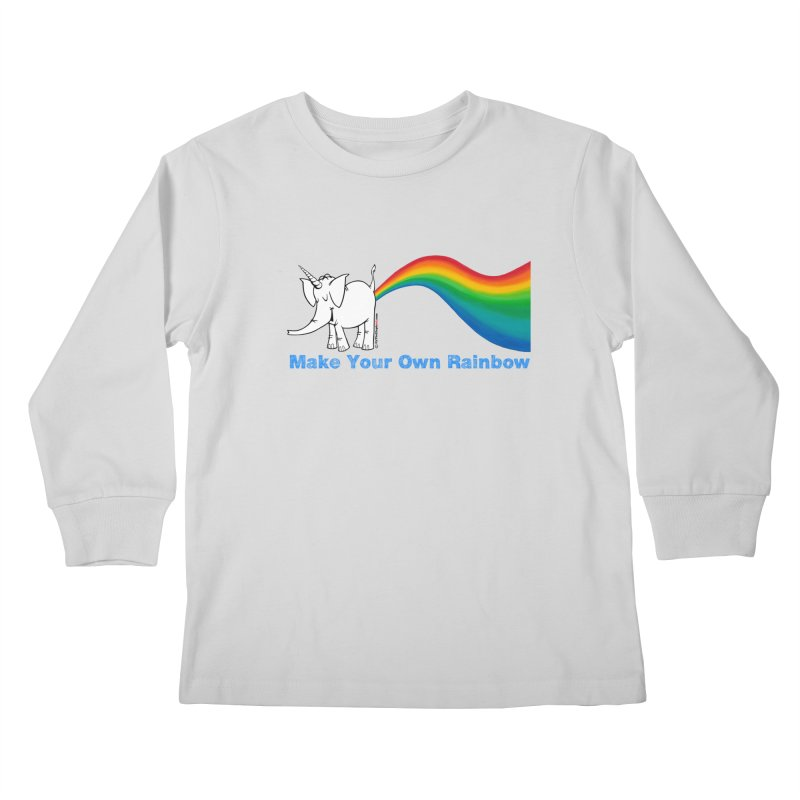 Make Your Own Rainbow - Cy The Elephart Kids Longsleeve T-Shirt by Cy The Elephart's phArtist Shop