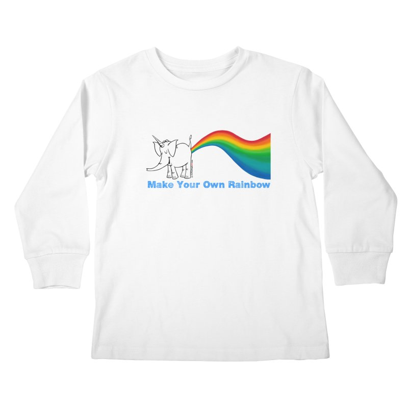 Make Your Own Rainbow - Cy The Elephart Kids Longsleeve T-Shirt by Cy The Elephart's phArtist Shop