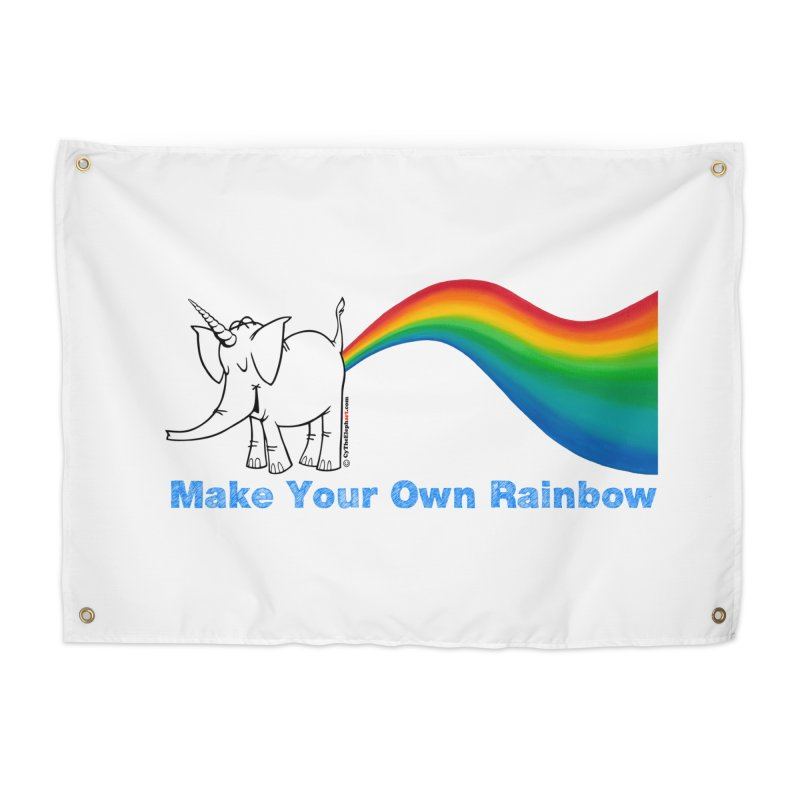 Make Your Own Rainbow - Cy The Elephart Home Tapestry by Cy The Elephart's phArtist Shop