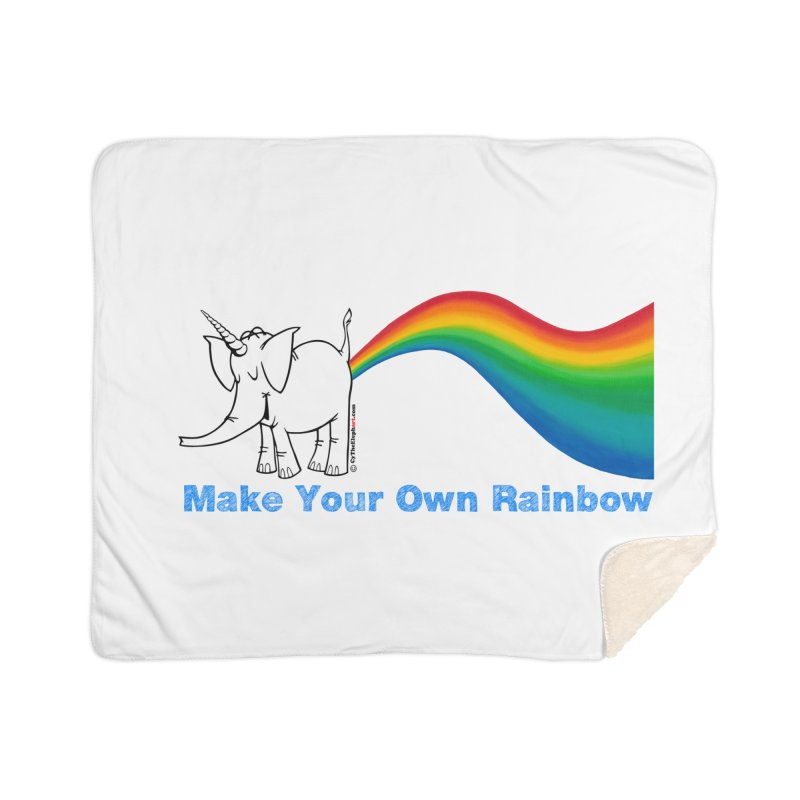 Make Your Own Rainbow - Cy The Elephart Home Blanket by Cy The Elephart's phArtist Shop