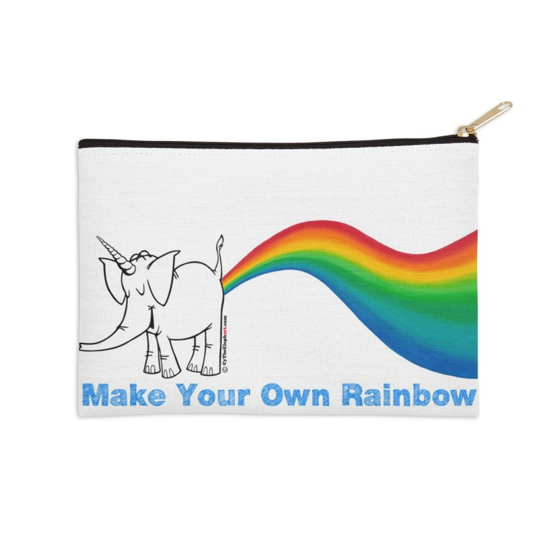 Make Your Own Rainbow - Cy The Elephart Accessories Zip Pouch by Cy The Elephart's phArtist Shop
