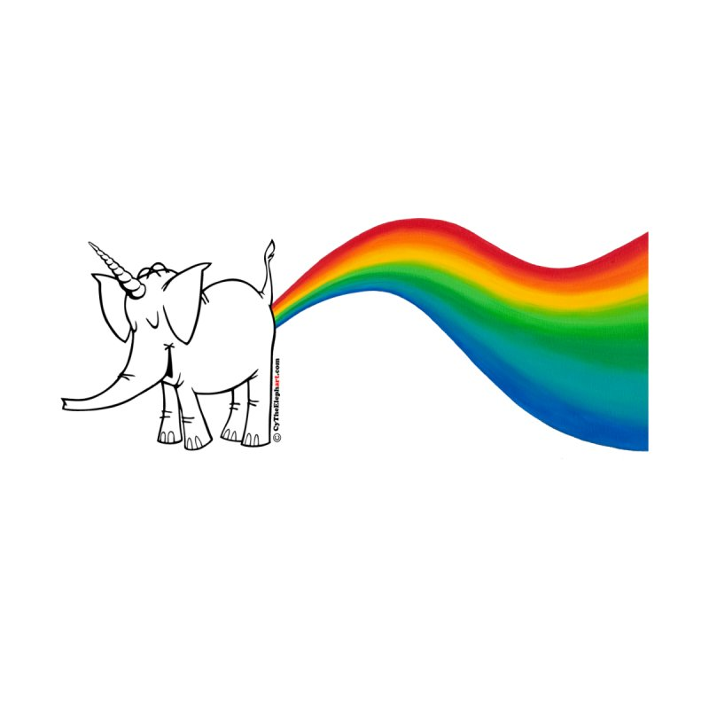 Make Your Own Rainbow ( White Lettering ) - Cy The Elephart Accessories Sticker by Cy The Elephart's phArtist Shop